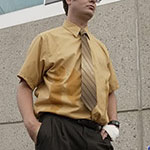 Dwight Schrute Mustard Dress Shirt