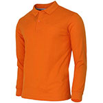 Long Sleeve Orange Polo Shirt