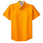Short Sleeve Dress Shirt Athletic Gold