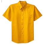 Short Sleeve Dress Shirt Gold