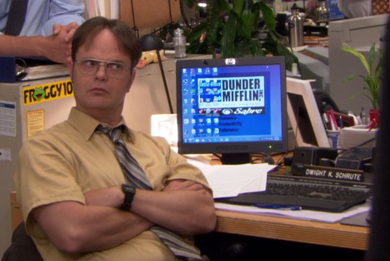 The Office Dwight Schrute Mustard Shirt Calculator Wrist Watch