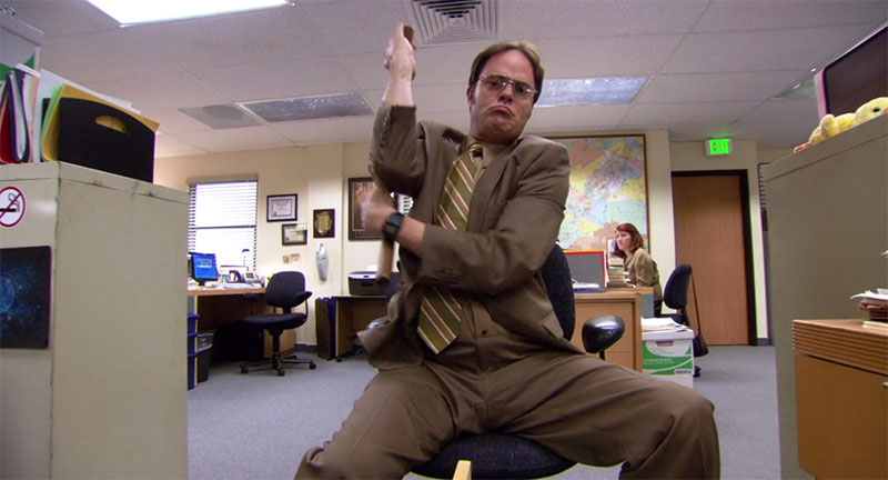 The Office Dwight Schrute Nunchucks