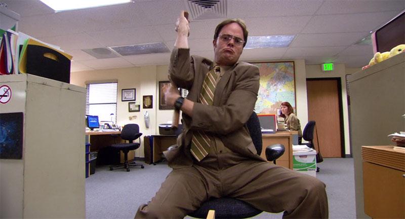 The Office Dwight Schrute Nunchucks
