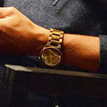 Jackson Avery Gold Analog Wrist Watch