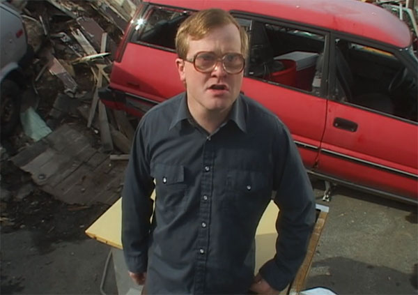 Bubbles Trailer Park Boys Blue Button Shirt