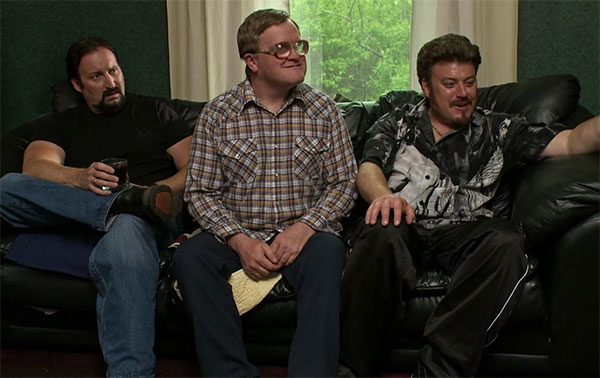 Bubbles Trailer Park Boys Sitting on Couch