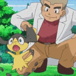 Professor Oak's brown loafers