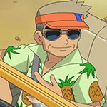 Professor Oak's green Hawaiian shirt