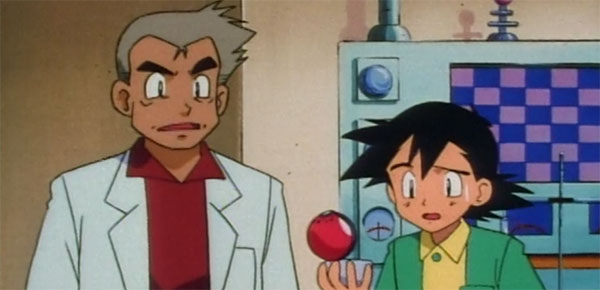 Pokemon Professor Oak with Ash
