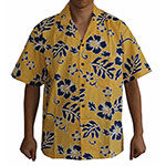 Yellow blue Hawaiian shirt