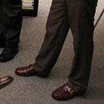 Andy Bernard brown dress shoes