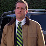 Andy Bernard khaki coat