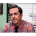 Andy Bernard red plaid dress shirt