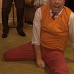 Andy Bernard salmon dress pants