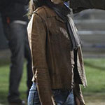 Cristina Yang brown leather jacket