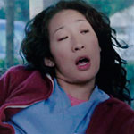 Cristina Yang red zip up hoodie