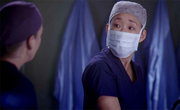 Grey's Anatomy Cristina Yang scrubs and mask