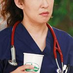 Cristina Yang red stethoscope