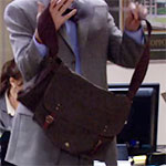Jim Halpert brown shoulder bag