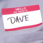 Jim Halpert Dave costume name tag