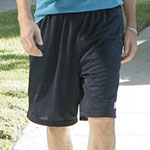 Jim Halpert navy athletic shorts