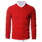 Ohoo vneck sweater red
