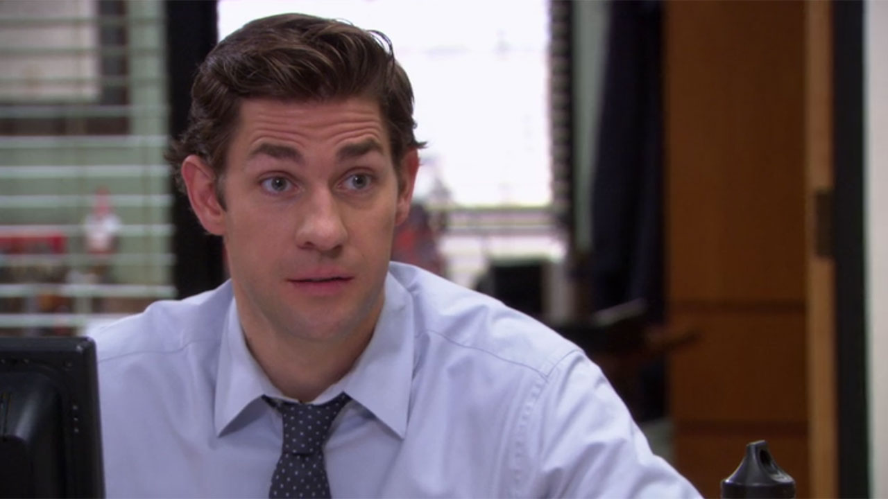 The Office Jim Halpert Blue Tie and Dress Shirt