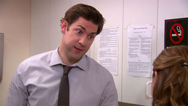The Office Jim Halpert funny face