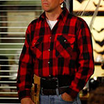 Andy Bernard red plaid shirt