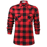 Olrain plaid shirt red