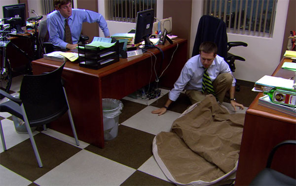 The Office Andy Bernard air mattress
