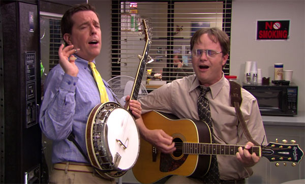 The Office Andy Bernard banjo Country Road