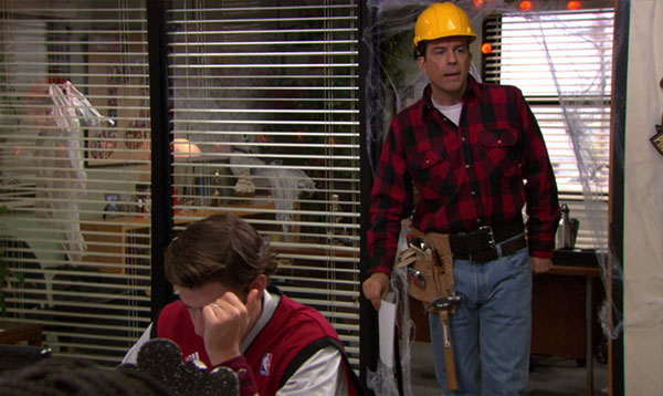 The Office Andy Bernard construction worker costume