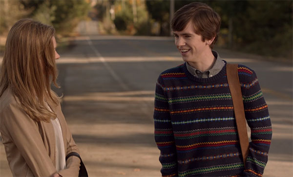 Bates Motel Norman Bates fair isle sweater