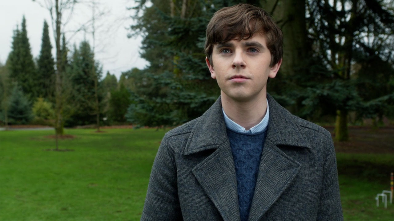Bates Motel Norman Bates gray pea coat