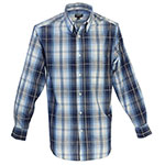 Gioberti blue plaid shirt