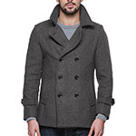 Match Mens wool pea coat