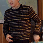 Norman Bates fair isle sweater