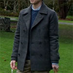 Norman Bates gray pea coat