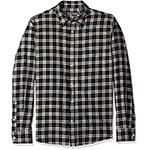 Slate and Stone black and white plaid shirt