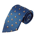 Blue duck neck tie