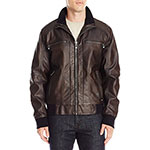 Calvin Klein faux leather bomber jacket heritage brown