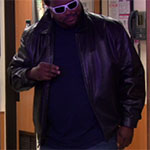 Darryl Philbin black leather jacket