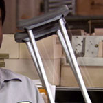 Darryl Philbin crutches
