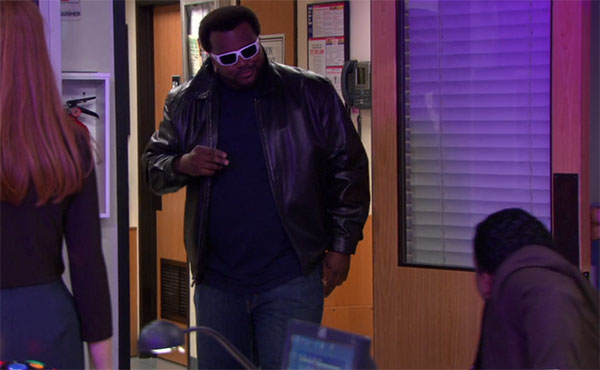 Darryl Philbin The Office black leather jacket
