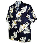 Hawaiian navy shirt