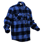 Rothco plaid flannel shirt blue plaid