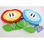 Super Mario Bros fire and ice flowers