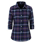 Benibos flannel plaid shirt purple