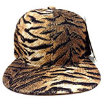 Brown gold tiger stripes hat